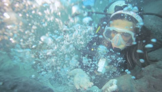 Diving di underwater volcano, Aceh