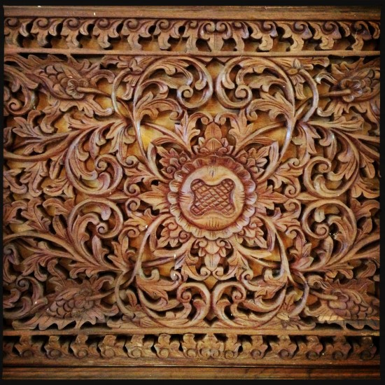 Some intricate carving in the Karaton