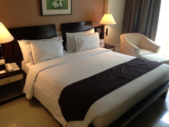A plush bed -- perfect for... relaxing!