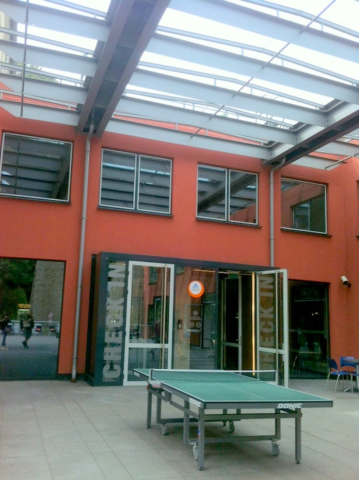The front of Luxembourg Hostel