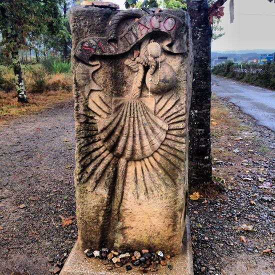 Santiago marker on the outskirts of town