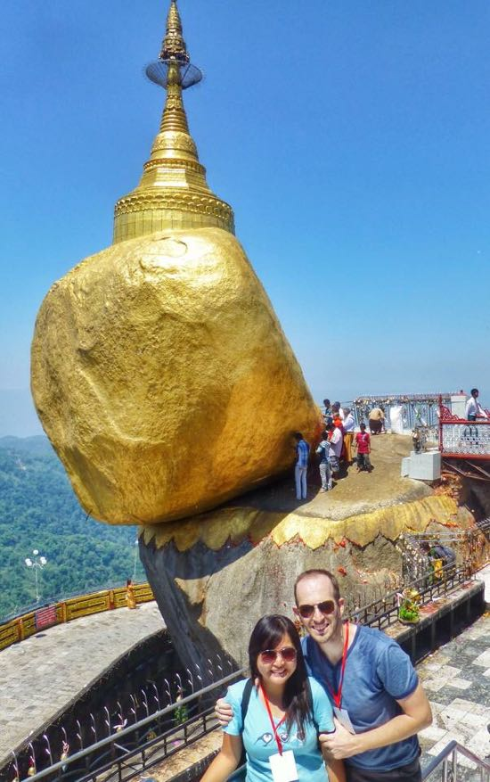Golden Rock di Myanmar