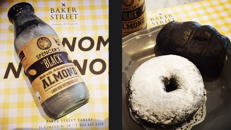 Charcoal Almond Milk dan Charcoal Donut