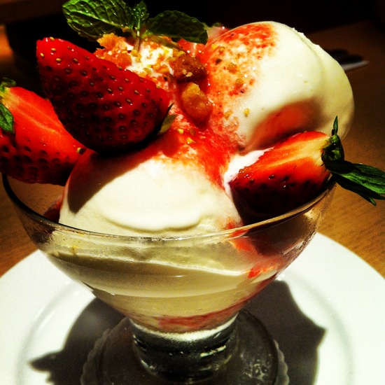 Strawberry coupe cheesecake @ Bakerzin Indonesia