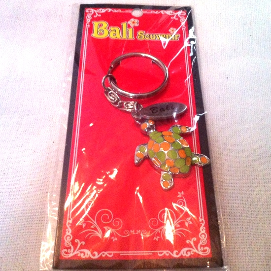 Bali keyring with turtle pendant - perfect for that shiny new motor of yours!