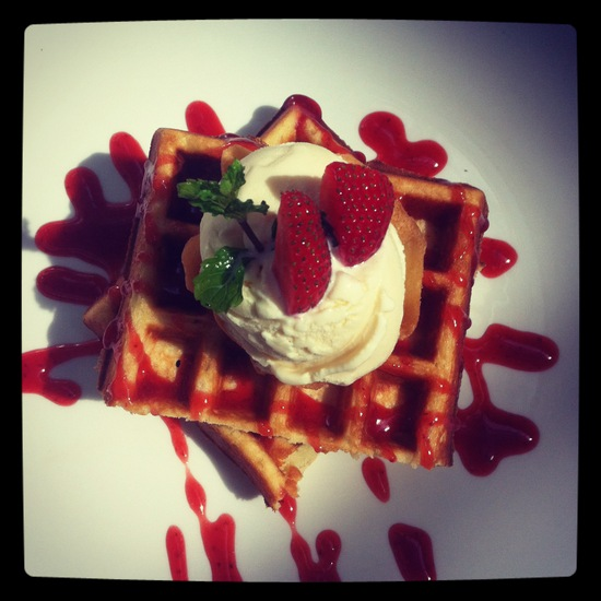 Waffles @ Origin House & Kitchen Bandung