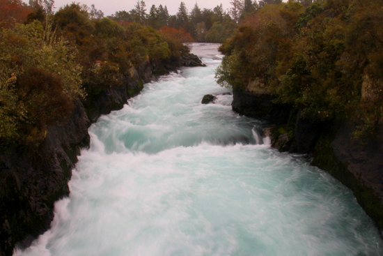 Huka Falls are powerful!