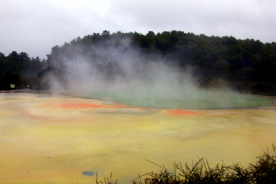Wai-O-Tapu Thermal Park is colourful!