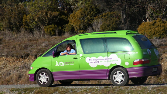 Our transport costs were largely due to this jucy van!