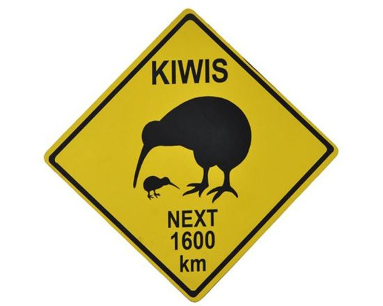 Burung Kiwi - Road Sign