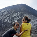 Vira and Mumun in front of Anak Krakatau