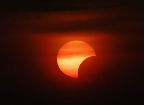 The 'zoomed-in' solar eclipse
