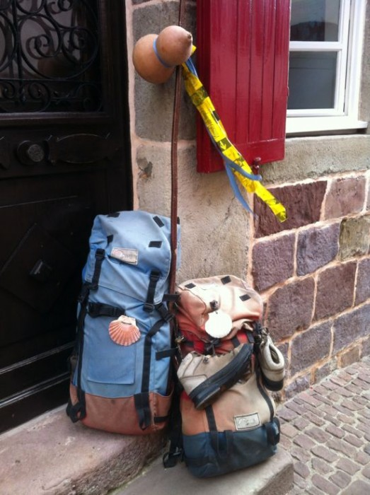 Backpacks in St Jean Pied-de-Port