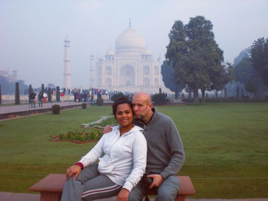Taj Mahal, India on the Valentine Day
