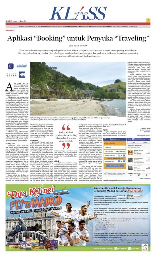Review App Booking Akomodasi - Kompas Klass - Maret 2014
