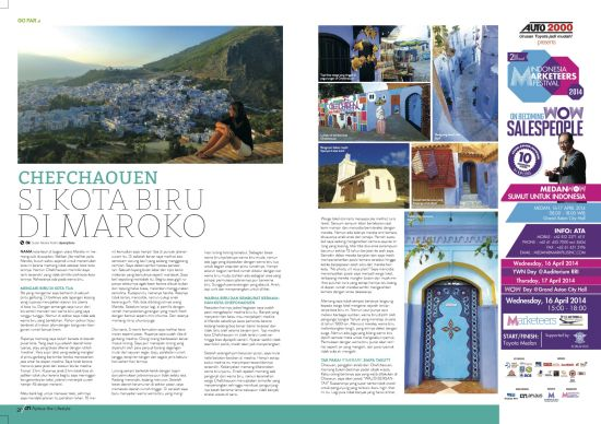 Chefchaouen - Majalah Aplaus - April 2014
