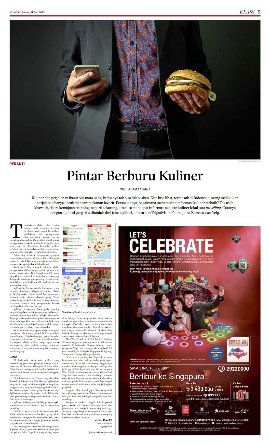 Restaurant Review Apps - Kompas Klass - Juli 2015