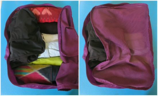 Travelling clothes organizer