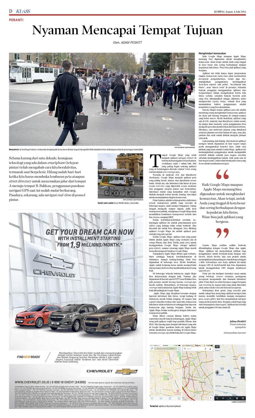 Review Navigation Apps - Kompas Klass - Juli 2014