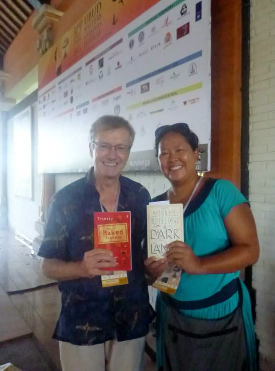 Bersama Tony Wheeler, founder Lonely Planet di Ubud Writers & Readers Festival