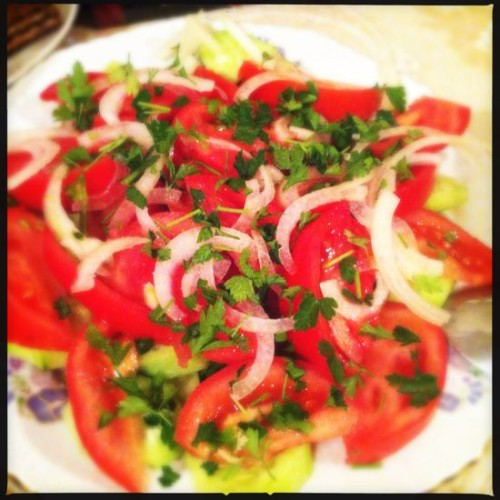 Homemade fresh salad