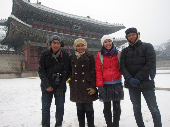 1st snow experience di seoul