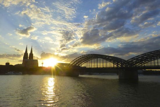 Sunset di Cologne