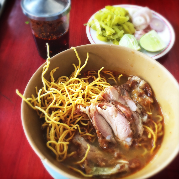 Khao Soi with crispy chicken