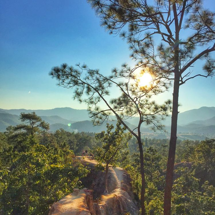 Sunset di Pai Canyon