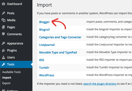 Import ke WordPress dari Blogspot