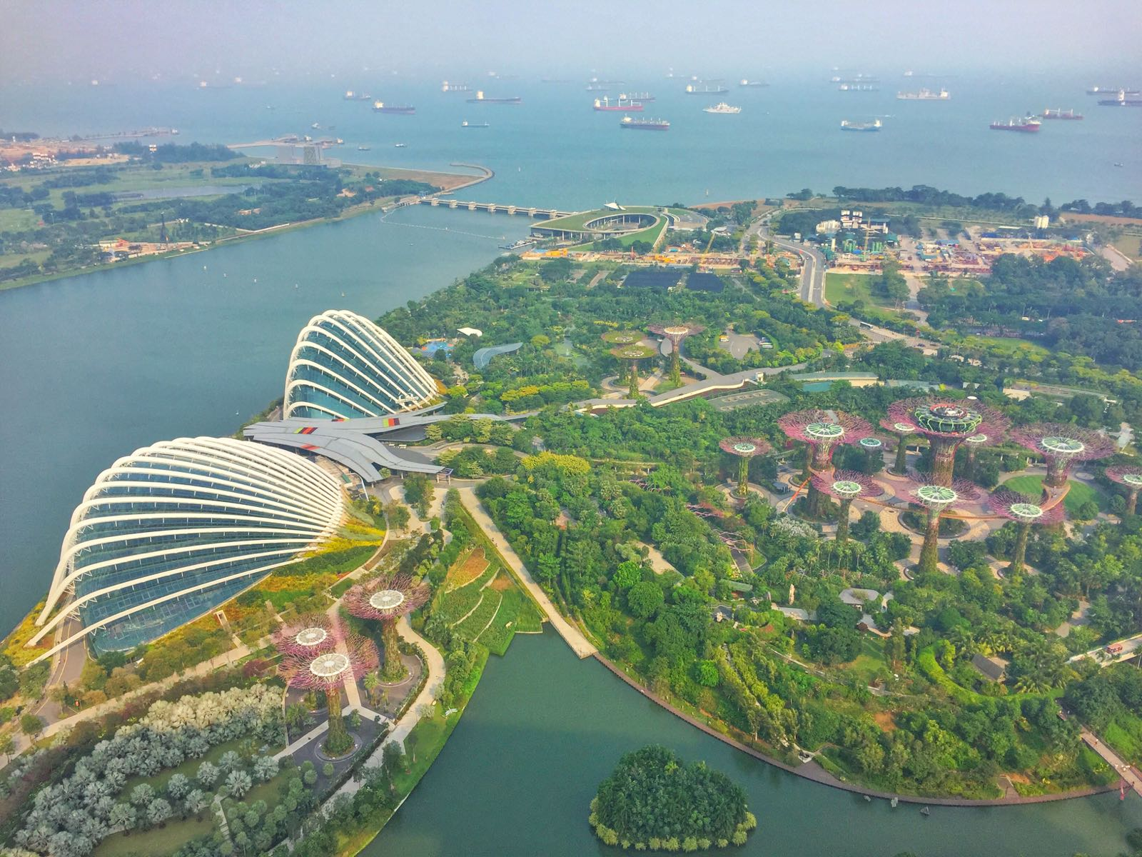 Gardens By The Bay Dilihat Dari Skypark