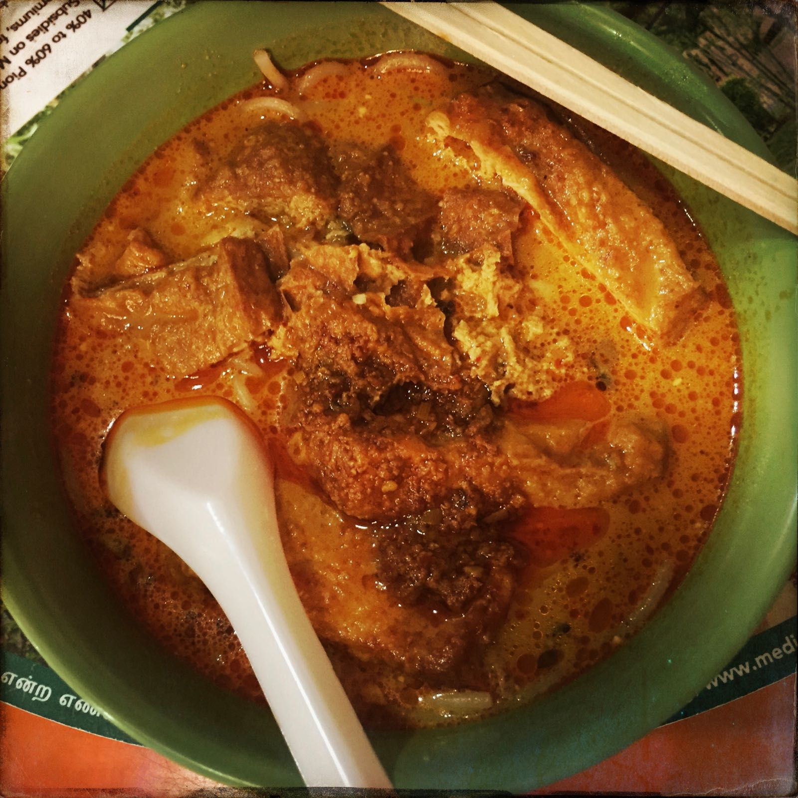 Laksa Di Maxwell Food Centre Chinatown Singapore