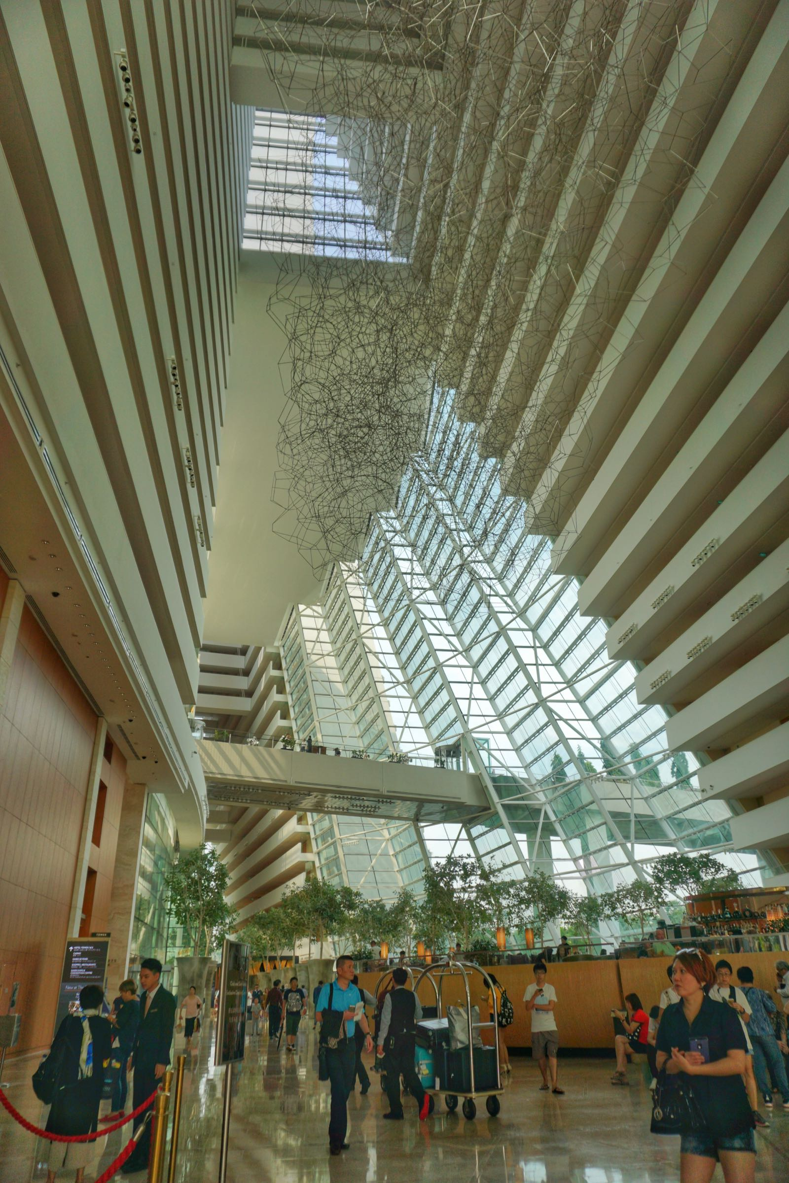 Lobby Marina Bay Sands Hotel Singapore