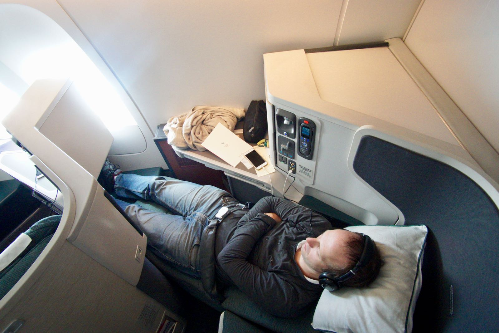 Bisa Flat Bed Di Cathay Business Class
